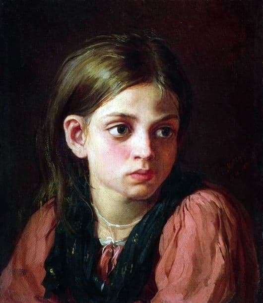 Description of the painting by Vasily Maximov Girl