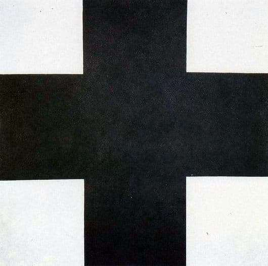 Description of the painting by Kazimir Malevich Black Cross