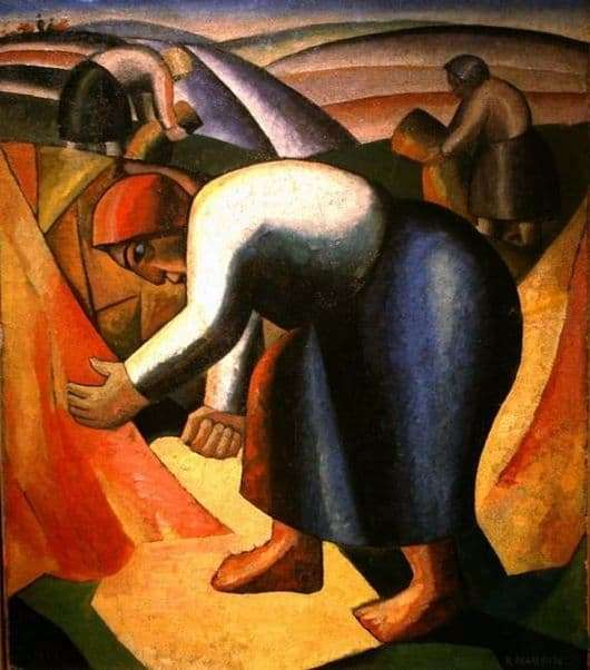 Description of the painting by Kazimir Malevich Harvest