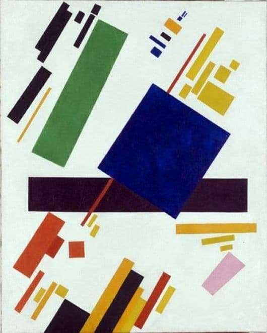 Description of the painting by Kazimir Malevich Suprematic composition