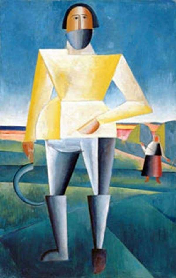 Description of the painting by Kazimir Malevich Reaper