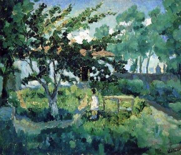 Description of the painting by Kazimir Malevich Summer Landscape