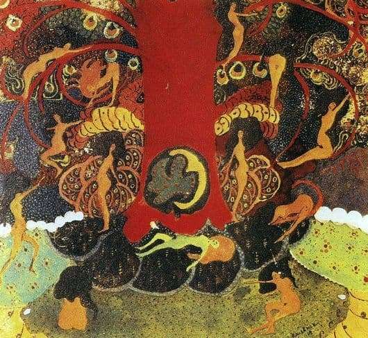 Description of the painting by Kazimir Malevich Oak and dryads
