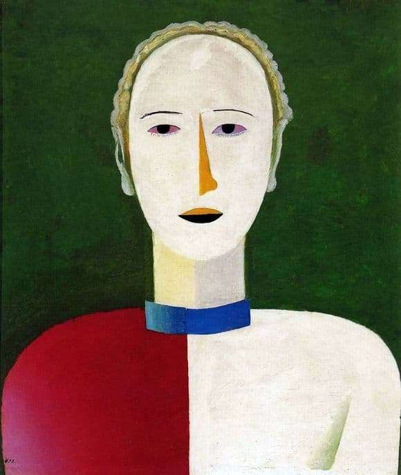 Description of the painting by Kazimir Malevich Female portrait