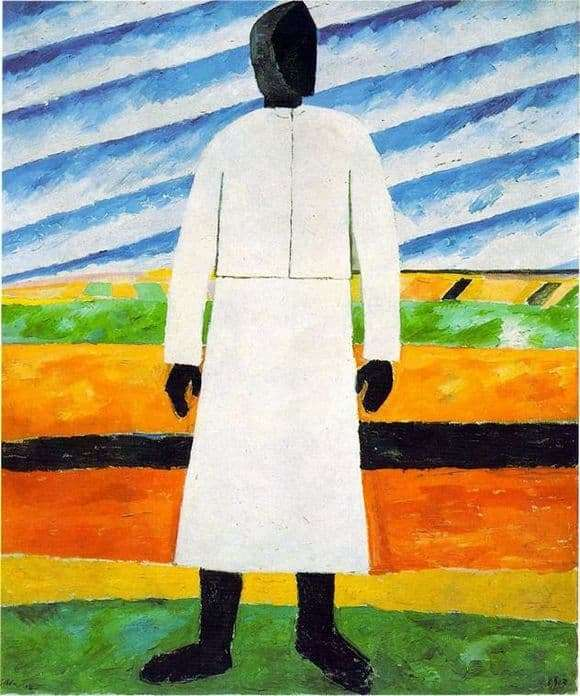 Description of the painting by Kazimir Malevich Peasant
