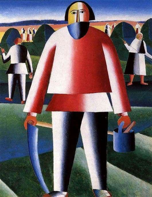 Description of the painting by Kazimir Malevich On the hayfield (Kosar)