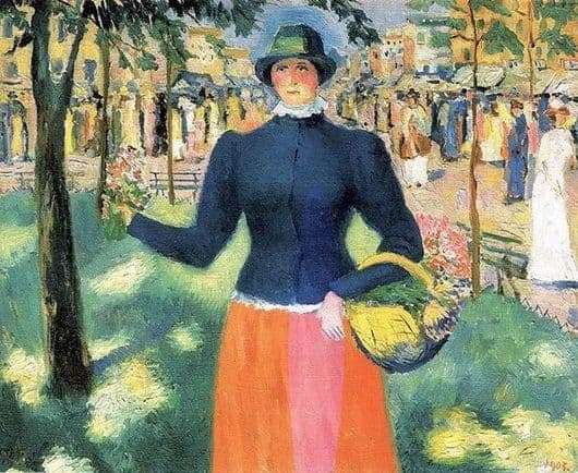 Description of the painting by Kazimir Malevich Flower