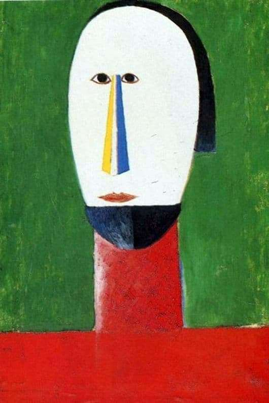 Description of the painting by Kazimir Malevich Head