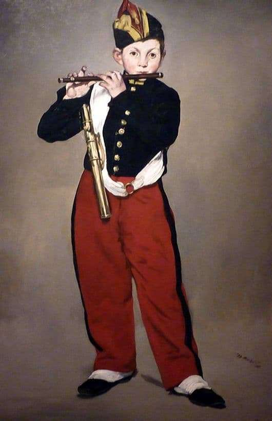 Description of the painting by Edward Manet Flute