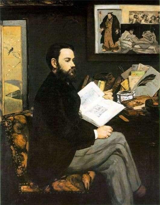 Description of the painting by Edward Manet Portrait of Emil Zola