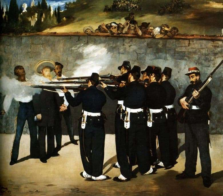 Description of the painting by Edward Manet The shooting of Emperor Maximilian
