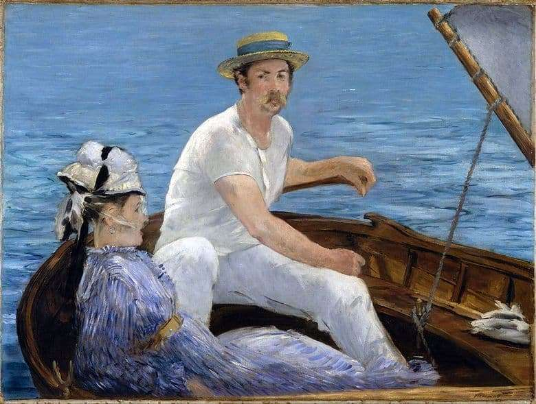 Description of the painting by Edward Manet In the boat