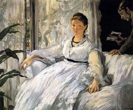 Description of the painting by Edward Manet Reading