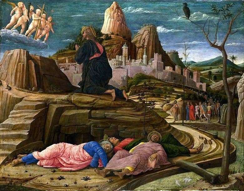 Description of the painting by Andrea Mantegna Praying for the cup