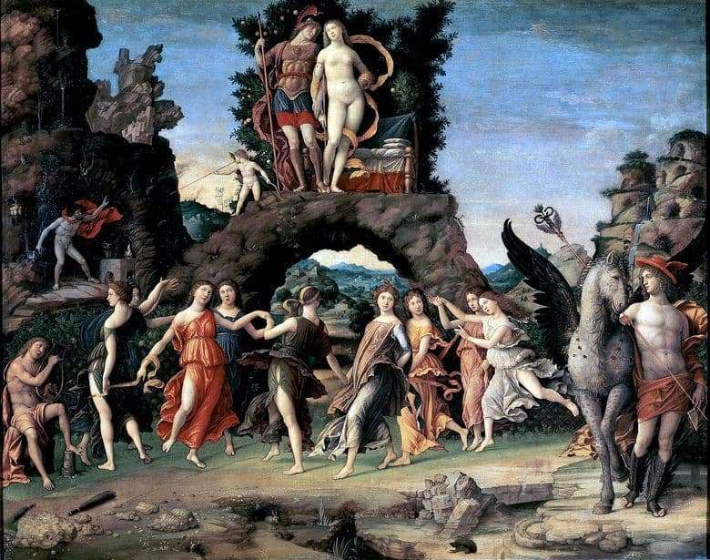 Description of the painting by Andrea Mantegna Parnas