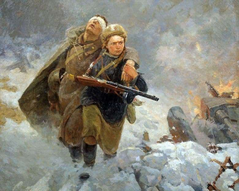 Description of the painting by Marat Samsonov Sister