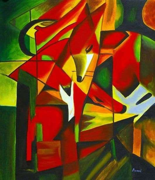 Description of the painting by Franz Marc Fox