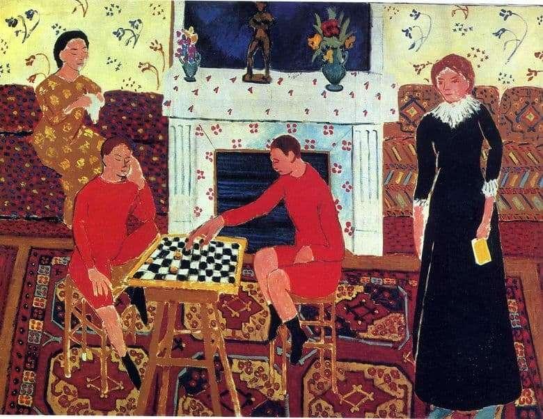 Description of the painting by Henri Matisse Family Portrait