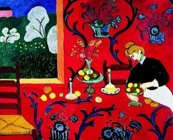 Description of the painting by Henri Matisse Red Room