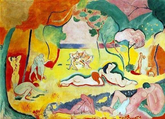 Description of the painting by Henri Matisse The joy of life