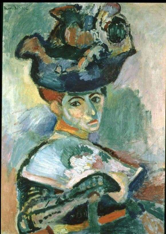 Description of the painting by Henri Matisse Woman in the hat