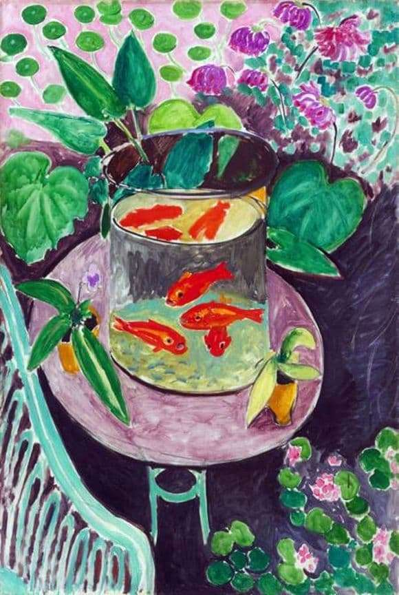 Description of the painting by Henri Matisse Red fish