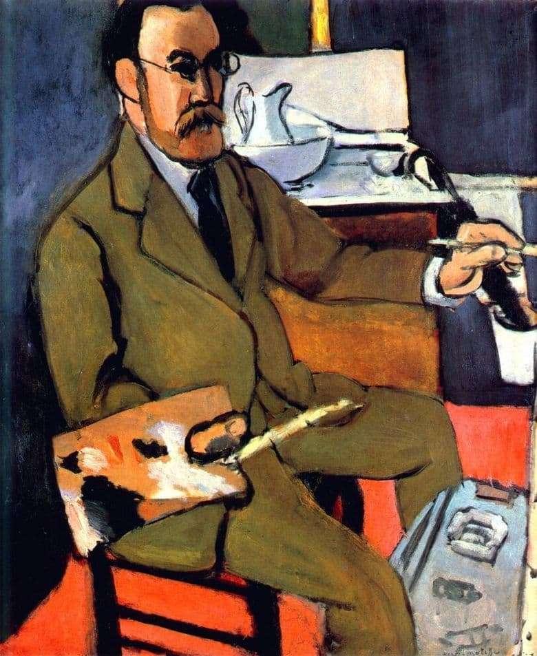 Description of the painting by Henri Matisse Self portrait