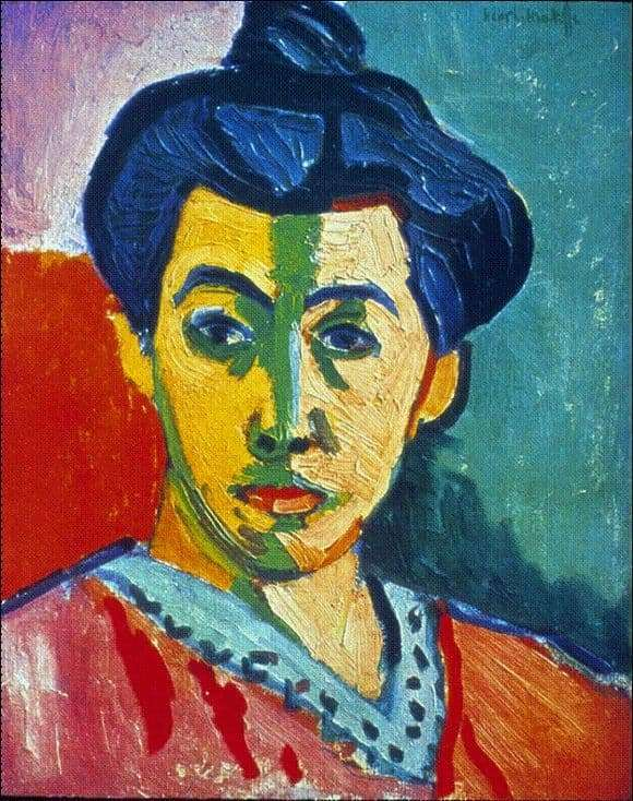 Description of the painting by Henri Matisse Madame Matisse
