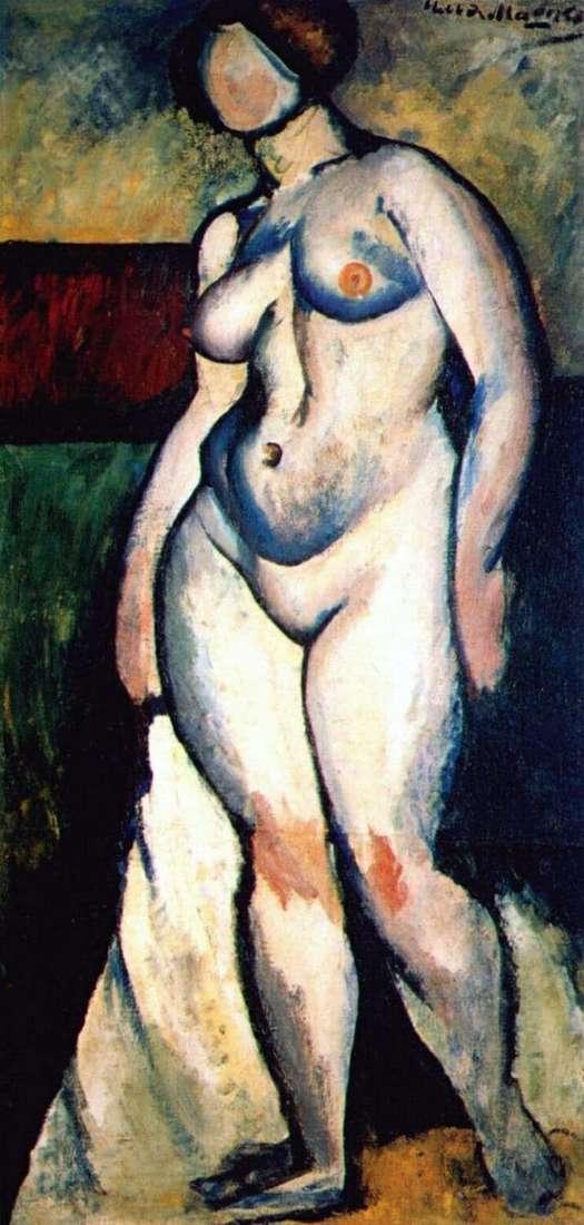 Description of the painting by Ilya Mashkov Nude