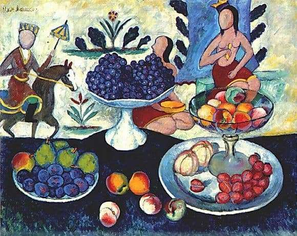 Description of the painting by Ilya Mashkov Still Life