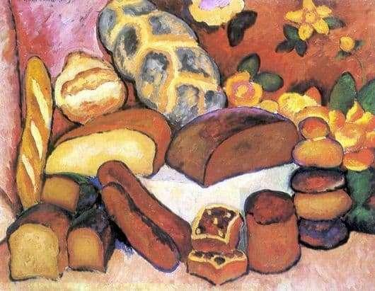 Description of the painting by Ilya Mashkov Bread