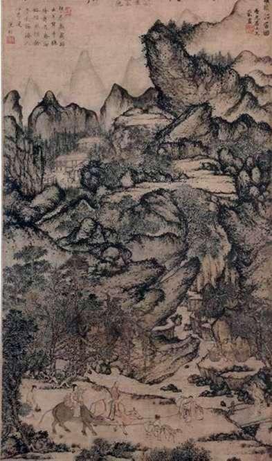 Description of the painting by Van Maine Migration Zichuan