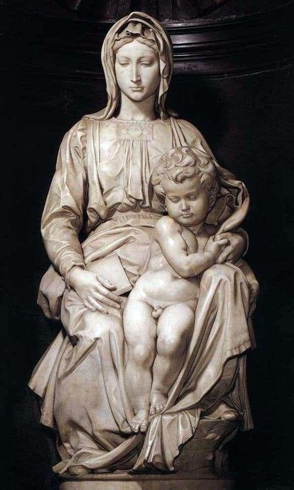 Description of the sculpture by Michelangelo Buanarroti Madonna of Brugge