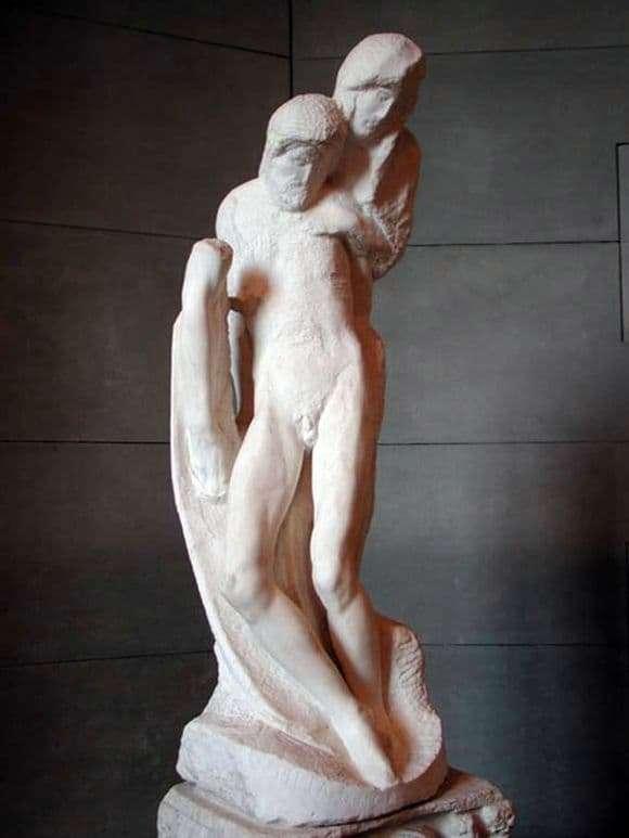 Description of the sculpture by Michelangelo Buanarroti Pieta Rondanini