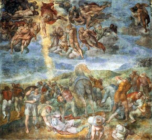 Description of the painting by Michelangelo Buanarroti The Conversion of Saul