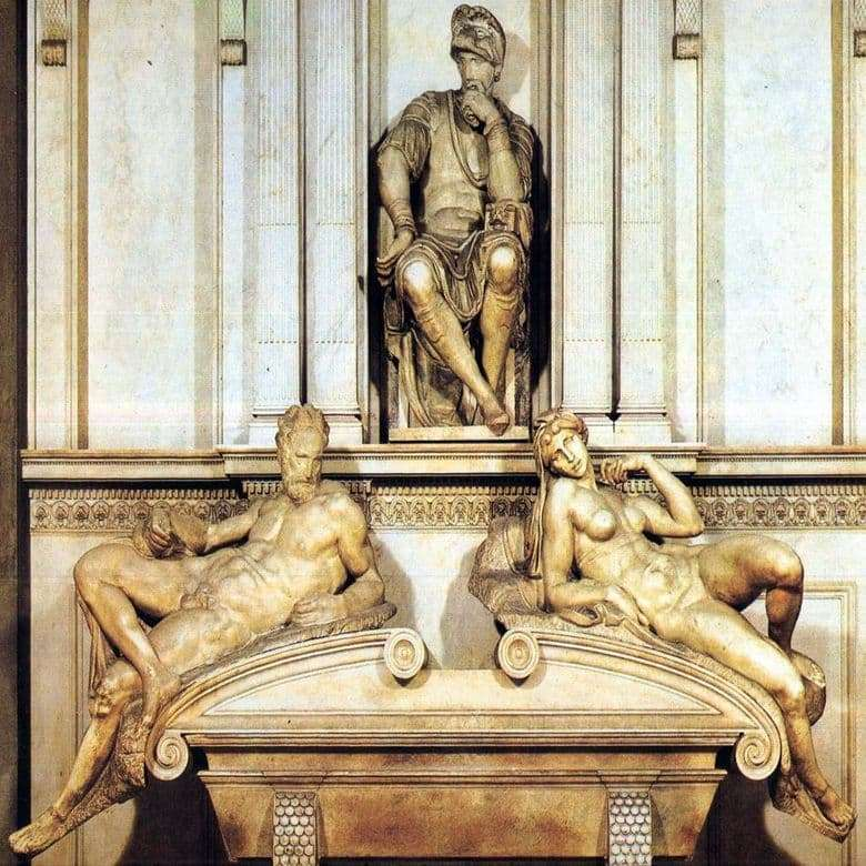 Description of the sculpture by Michelangelos Tomb of Lorenzo Medici