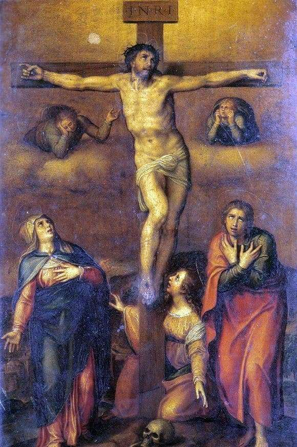 Description of the painting by Michelangelo Buanarroti Crucifixion of Christ