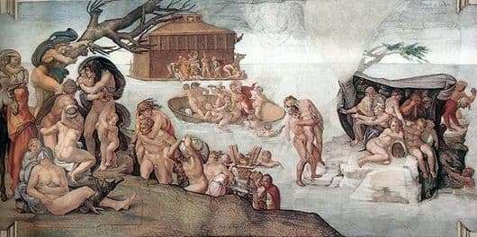 Description of the painting by Michelangelo Buonarroti Flood