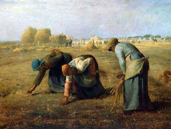 Description of the painting by Jean Francois Millet Collector ears