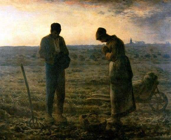 Description of the painting by Jean Francois Millet Angelius