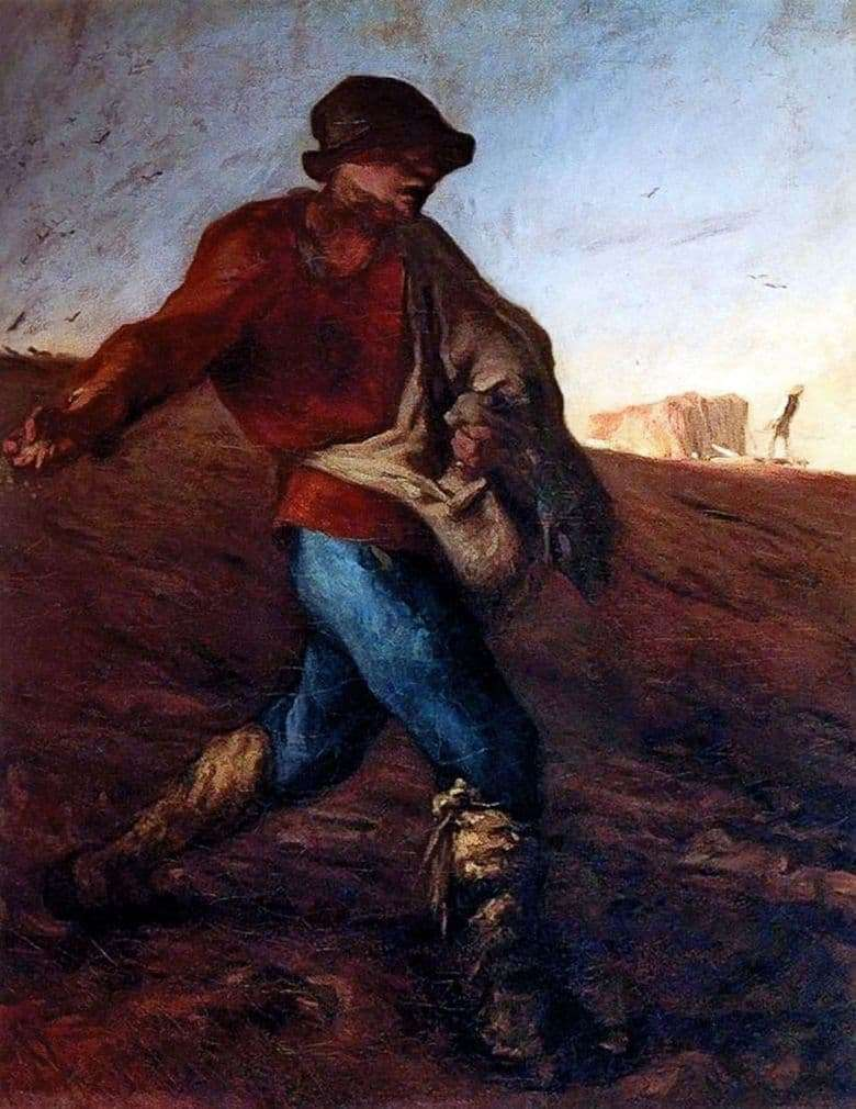 Description of the painting by Jean Francois Millet The Sower