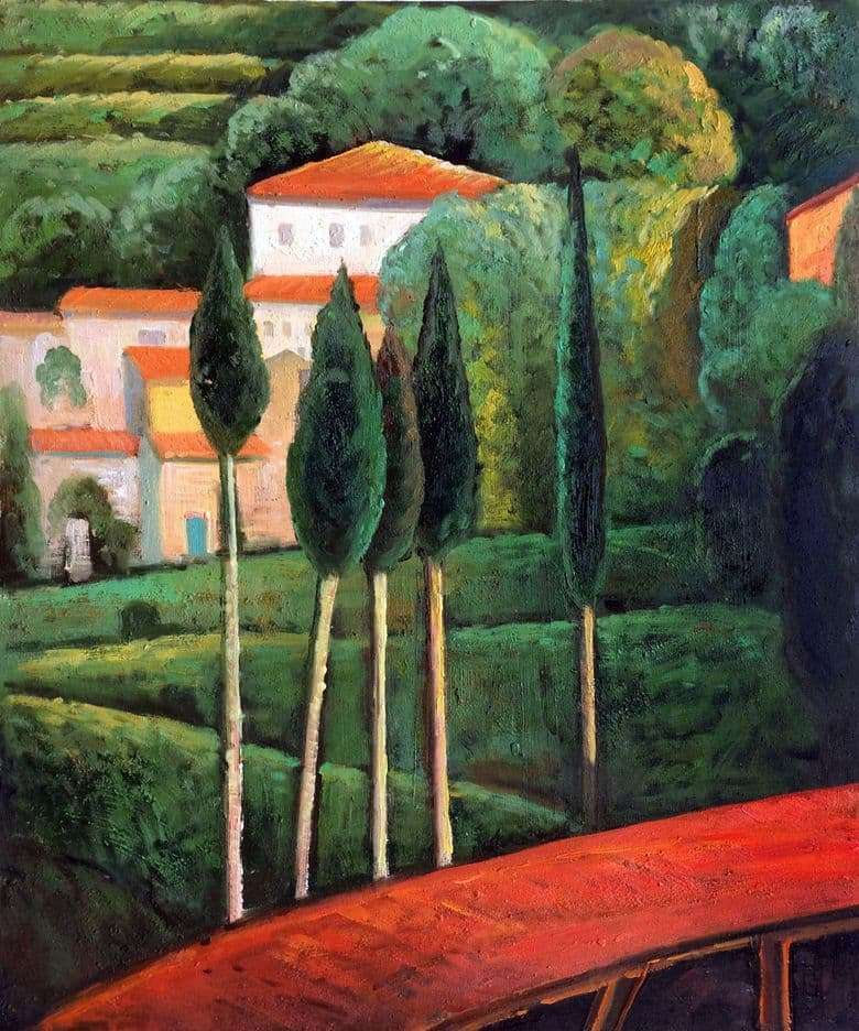 Description of the painting by Amedeo Modigliani Landscape southern France
