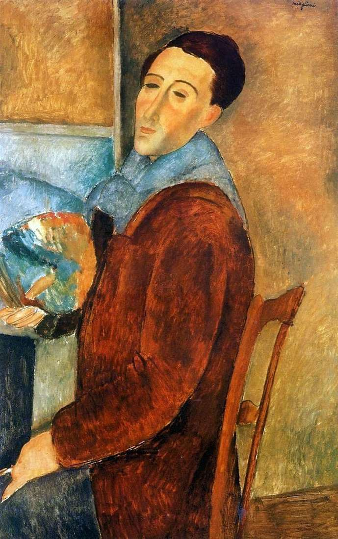 Description of the painting by Amedeo Modigliani Self portrait