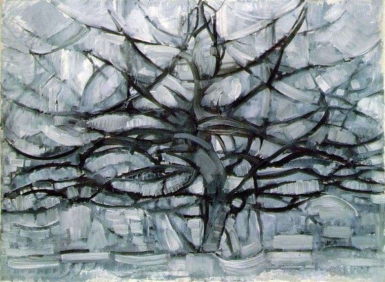 Description of the painting by Peter Mondrian Gray Tree