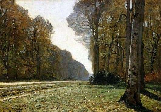 Description of the painting by Claude Monet Road to Chailly