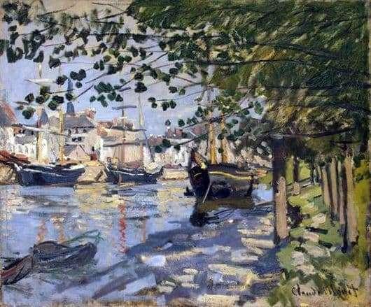 Description of the painting by Claude Monet Seine in Rouen