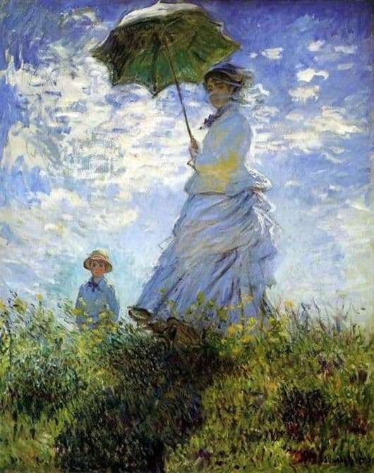 Description of the painting by Claude Monet Walk