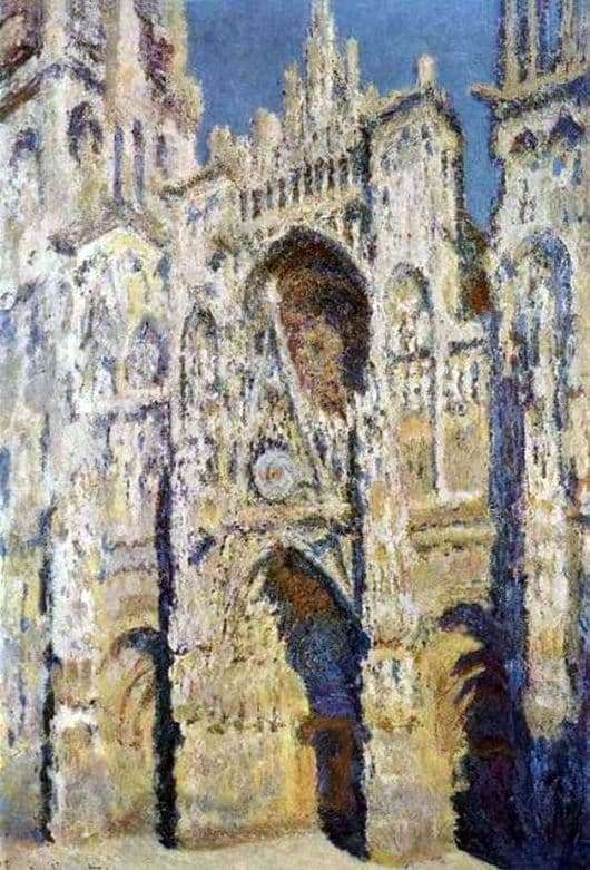 Description of the painting by Claude Monet Cathedral in Rouen