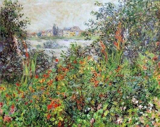 Description of the painting by Claude Monet Flowers