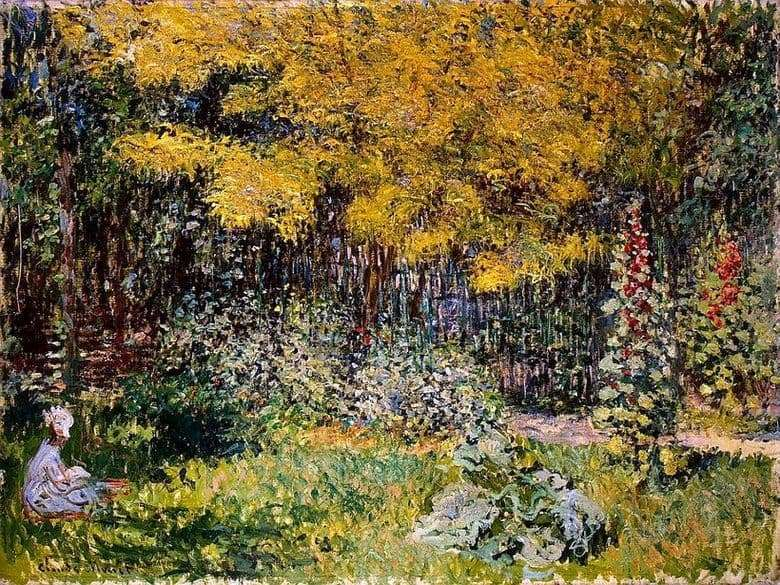 Description of the painting by Claude Monet Garden